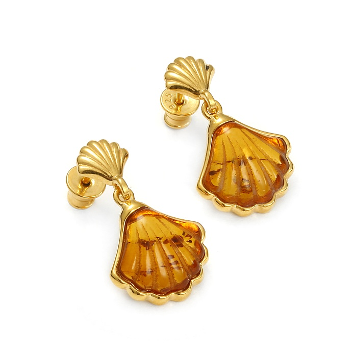 OysterShell Gold – Kolczyki