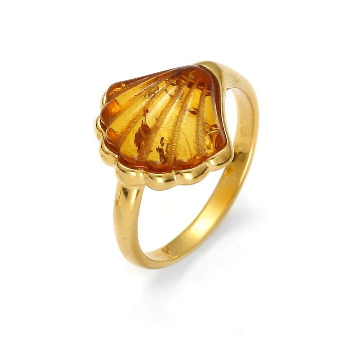 OysterShell Gold – Pierścionek